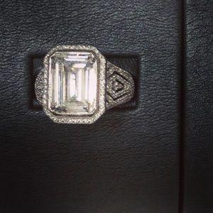 Judith Ripka Sterling Silver Diamonique ring NWT